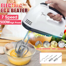 500W 7 Speed Kitchen Hand Food Mixer with Electric Whisk Egg Beater Cake Baking