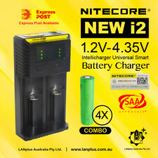 4x Sony VTC4 2100mAh 30A HIGH discharge 18650 Battery + Nitecore i2 Charger