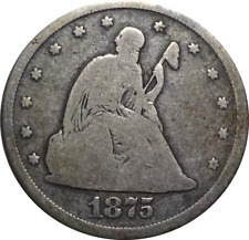 1875-CC Seated Liberty Twenty Cent Piece