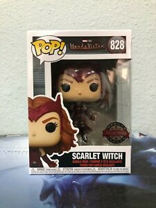 Funko POP! Wanda Vision SCARLET WITCH Special EditionFigure #828 w/ Protector
