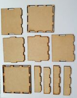 Laserschnitt MDF Box - Montieren Dekoration Dein Eigenes Box, Craft, Decoupage,