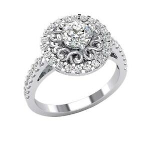 SI1 G 1.35 Ct Round Cut Diamond Solitaire Anniversary Ring 14K Solid Yellow Gold
