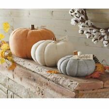 Mud Pie H0 Gather Thanksgiving Felted Wool/Wood Pumpkin 40030001 Choose Design