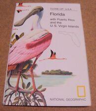 National Geographic November 1973 Map Close-Up USA Florida Puerto Rico US Virgin