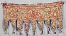 Ethnic Embroidery Rabari Mirror Tribal Tapestry Decor Door Valance Indian Toran