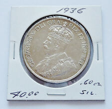 1936 ~ CANADA KING GEORGE V ~ SILVER DOLLAR ~ ALMOST UNCIRCULATED