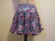 Silk Floral Tiered Ruffled Above Knee Skirt by Twelve by Twelve size M