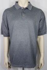 Ping slate blue diamond print casual mercerized cotton SS polo shirt mens XL