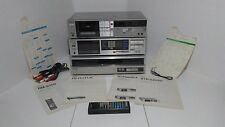 Vintage Sony PS-FL1 Record Player STR-VX550 Receiver TC-FX410R Cassette Deck WOW