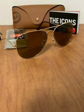 Ray-Ban RB3026 001/33 Gold Brown Classic Aviator Sunglasses 62 mm Large