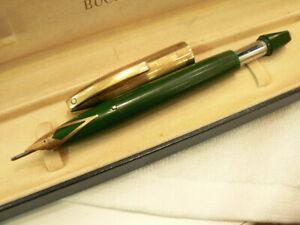 Vintage Sheaffer PFM V pen for men green gold cap fountain. ...