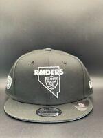 Las Vegas Raiders New Era Local State C1 9FIFTY Snapback Original Fit - Black