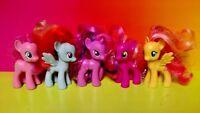 "5 G4 My Little Pony MLP Brushable 3"" Inch Rare Horse Bundle Lot 2011 2010 Ponies"