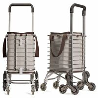 Sturdy Birdy Stair Climbing Cart with Insulated Bag (Beige with Brown Trim)