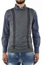 Dsquared2 Vest Man Grey Wool Logo Casual - Mod. S74HA0466S14586002F
