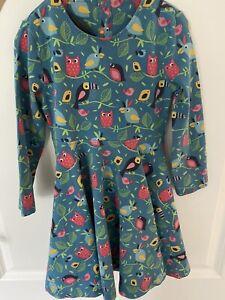 Frugi Birdy Dance Owl Toucan Skater Dress Age 3-4 Playwear