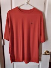 Nike Fit Dry Orange S/S Tee -100% Polyester -Large