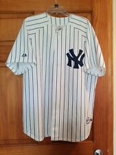 Vintage Majestic NEW YORK YANKEES Pin Strips Button-Down (XL) Lightweight Jersey
