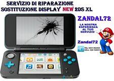 NINTENDO NEW 2DS XL SOSTITUZIONE SCHERMO LCD DISPLAY SUP SERVIZIO DI RIPARAZIONE