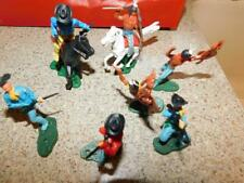 #0886 Vintage New Lot Cowboys Indians Horses Twist N Turn Childrens Toys Play