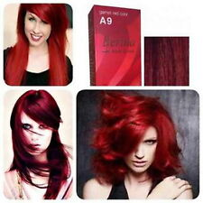 BERINA A9 Garnet Red Super Hair Dye Color Cream Changer Permanent Fashion Unisex