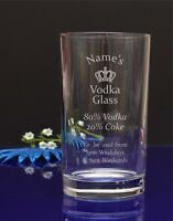 Personalised Your Name Engraved Hi Ball Tumbler Glass/ Vodka a Coke/ B-day 294