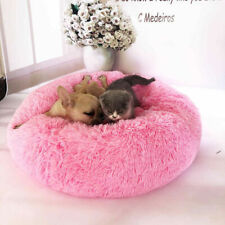 Pet Bed Dog Cat Warm Sleeping Fluffy Nest Comfy Soft Plush Round for Chihuahua