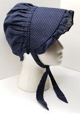 Vintage Pennsylvania Prairie or Sun Bonnet Hat Blue Small