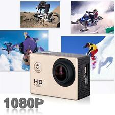 Mini Helmet Full HD 1080P 12MP Cam 30M caméra étanche Action Sports DV DVR Or DC