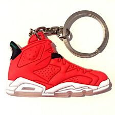 AIR JORDAN VI 6 RETRO SPIZIKE HISTORY RED SNEAKERS SHOES KEY CHAIN RING HOLDER