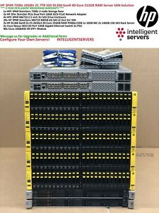 HPE 3PAR 7200c All Flash 21.7TB SSD 60x 400GB SAS 10Gbit iSCSI Gen9 SAN Solution