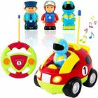 Liberty Imports My First Cartoon RC Race Car Radio Remote Control Toy for Baby,