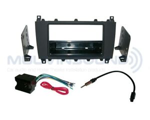 MERCEDES BENZ C Class 2005-2007 Radio Dash Kit Combo SD + Harness + Ant MB12