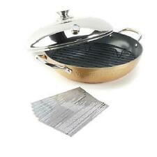 Simply Ming Elite Hammered Ceramic Nonstick Stovetop Oven Gold New In Box