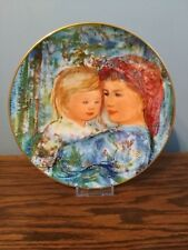 1991 'Michele and Anna' Edna Hibel Mother's Day Collector Plate, Free Shipping!