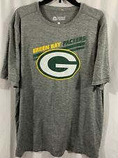 Majestic Evolution Tee Cool Base Green Bay Packers Gray Tee Shirt Men's Size XL