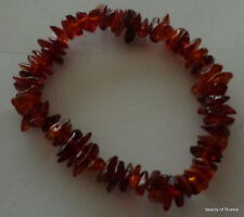 Stretch  cognac  Baltic Amber Bracelet