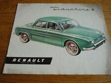 RENAULT DAUPHINE Voiture brochure JM