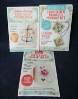 Mollie Makes Cross Stitch Three Embroidery Kits For Junior Crafters New Sealed