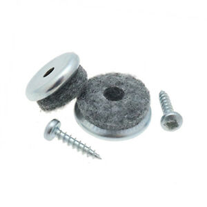 Screw On Felt Glides Furniture Sliders Wooden Chair Leg Protector Pads