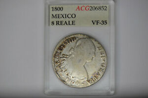 Mexico: 1800 8 Reales-  Pillars on the back.  Neat Coin.