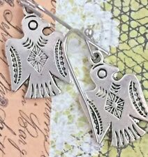 Antique Silver Southwest Eagle Earrings. Courage. Wisdom. Strength. Pure Spirit