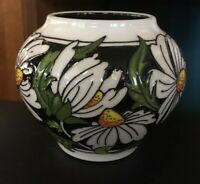 "! Brand New MOORCROFT Phoebe Summer Daisies 4"" VASE (Shape 402/4) FIRST Quality!"