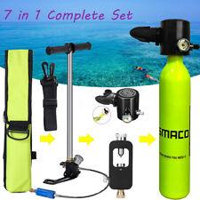 7Pcs Mouthpiece Oxygen Cylinder Scuba Diving Tank Refill Adapter Pressure Gauge