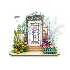 Doll garden House with Accessories and Furniture, Wooden Room Model Kits Gifts