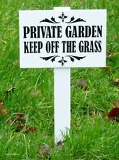 Private Garden/Keep Off The Grass Sign' DOUBLE SIDED BIG SIZE