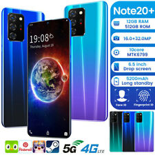 Android10 Note 20+ 512GB Unlocked Mobile Smart Phone Dual WiFi 4G+5G GPS Face ID