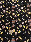 "Custom Cotton Fabric Fat Quarter Drink Miller Lite Beer Lager Ale 18x21"" FQ"