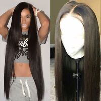 Silk Top 100% Indian Human Hair Full Lace Wig Pre Plucked Wigs With Baby Hair 1B
