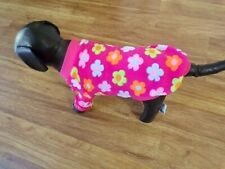 "dog sweater, pink, retro ,""flower power"", fleecy warm, Xs *(read size details)"